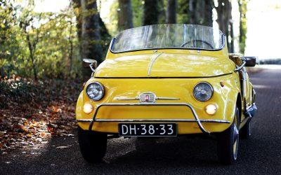 Fiat 500 Jolly. Al 60 jaar lang vormt de 500 een ontzettend leuke verschijning.