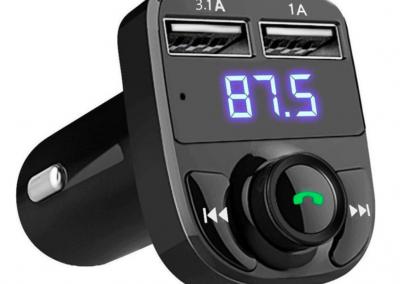 Bluetooth ontvanger draadloze carkit – 2x fastcharger USB Poort – Handsfree bellen – Voor alle telefoons