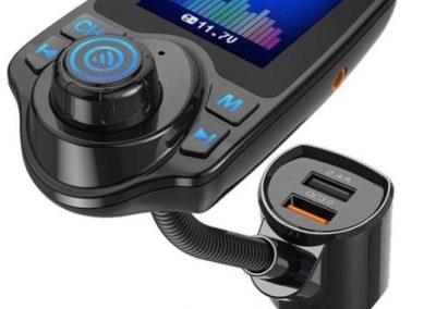 Bluetooth ontvanger draadloze carkit – 2x fastcharger USB Poort – Handsfree bellen – Voor alle telefoons – Met scherm
