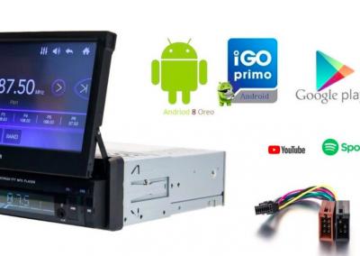 Klapscherm autoradio – Android 8.1 – Navigatie – Bluetooth – USB